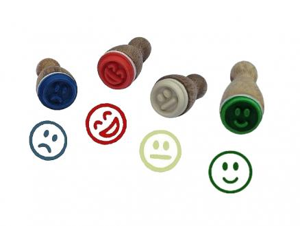 Stempelfiguren-Set Smileys
