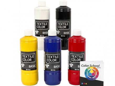Textilfarben-Set (5 x 500ml)