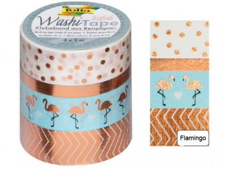Washi Tape Flamingo mit Glanzeffekt