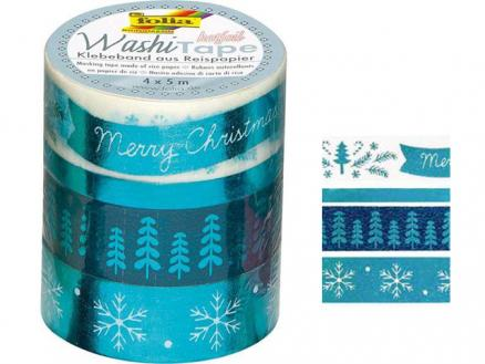 Washi Tape Winter mit Glanzeffekt